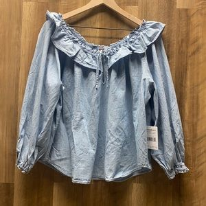 FREE PEOPLE - Chambray Blouse (fp)